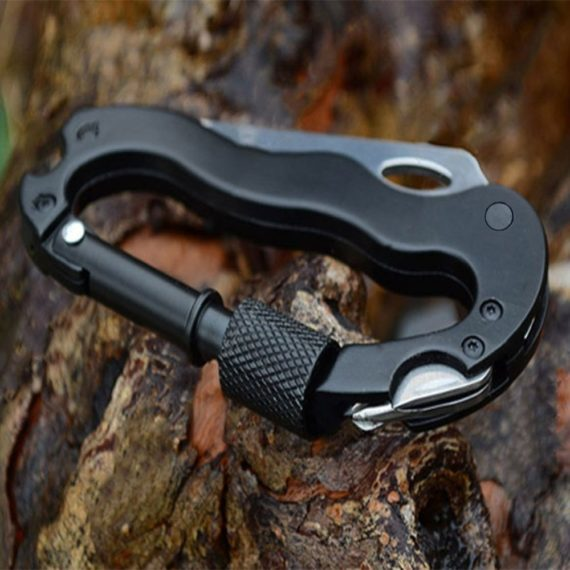 5 In 1 Multi-function Stainless Steel Carabiner