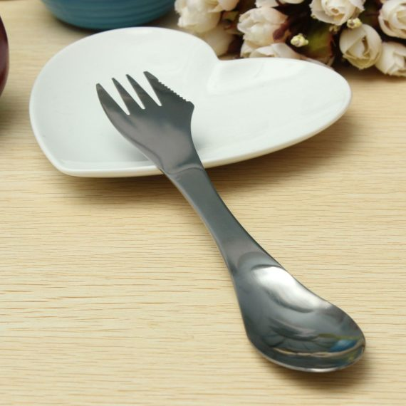 3in1 Portable Stainless Steel Spork – Spoon Knife Fork