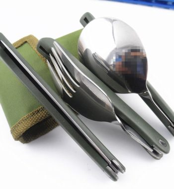 Folding Stainless Steel Cutlery Set – Knife, Spoon and Fork