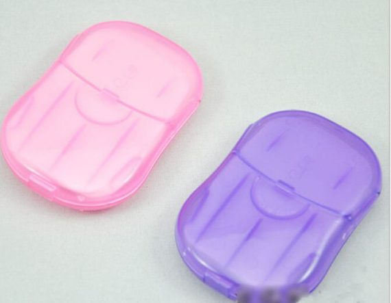 Portable Hand Wash Soap Paper with Mini Case
