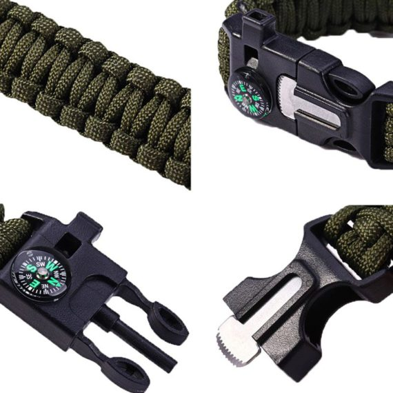 5 in 1 Multi-function Paracord Bracelet – Unisex