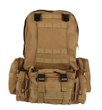 45 Liter Tactical Molle Backpack / Go Bag – 9 Colors