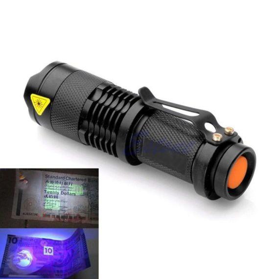 9 LED Mini Ultra Violet Flashlight / UV Flashlight