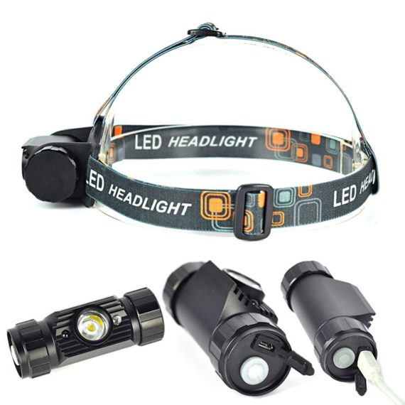 350 Lumens LED Headlamp / Headlight with Mini IR Sensor