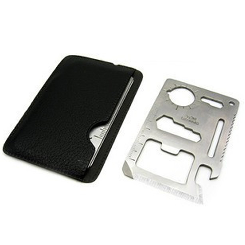 Multi-function11 in 1 Portable Pocket Size Survival Tool Card
