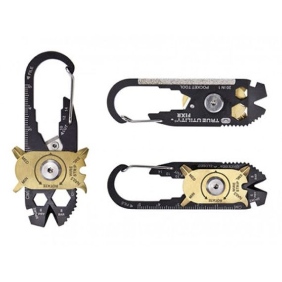 20 In 1 EDC Stainless Steel Multitool with Keychain Ring