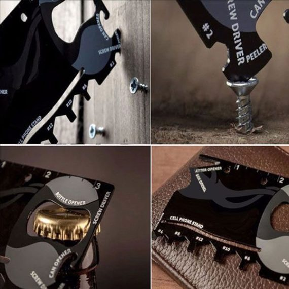 13 in 1 Credit Card Size Multi Tool Survival Card