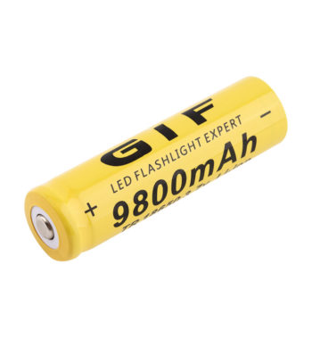 2 x 18650 Rechargeable Li-ion Batteries – 9800mAh Capacity