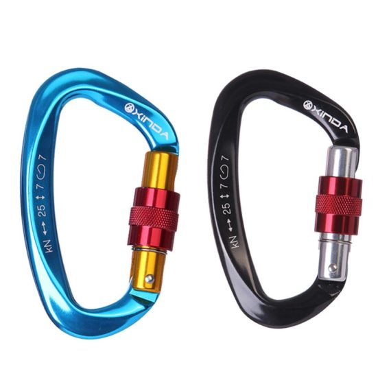 Professional Climbing Carabiner with Safety Master Lock