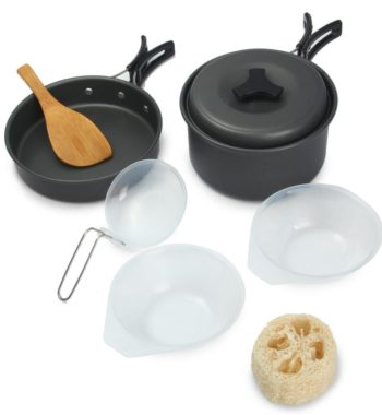 Anodized Aluminum Cook ware Set – Bowl Pot Pan Set