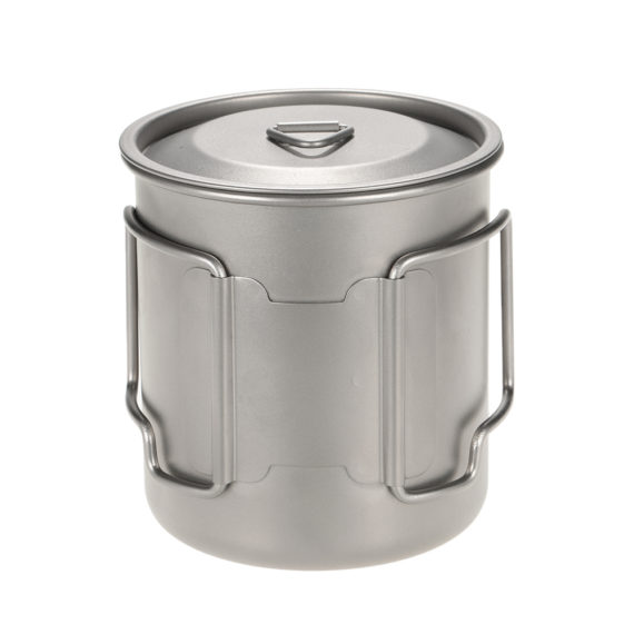 Portable Titanium Water Cup with Lid – 420ml