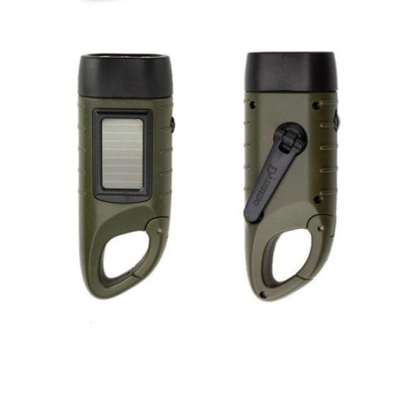 Solar and Hand Crank Flashlight – Rechargeable Flashlight