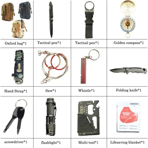 12 in 1 Mini Survival Kit for Every Day Carry
