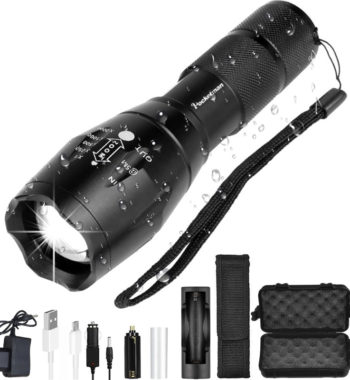 Tactical LED Flashlight – 4000 to 12000 Lumens